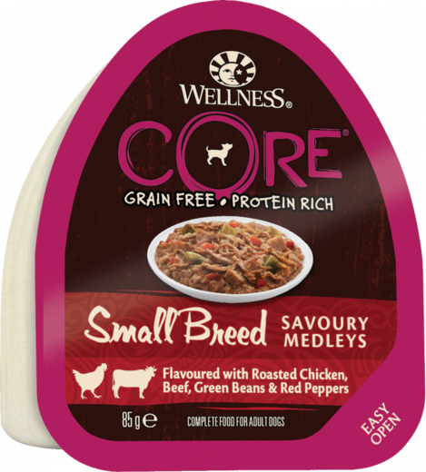 Small Breed SAVOURY MEDLEYS Chicken, Beef, Green Beans & Red Pepper 85g