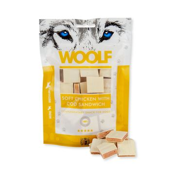 Woolf Soft Chicken with Cod Sandwich 100g