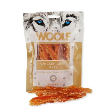 Woolf Chicken Jerky Bars 100g
